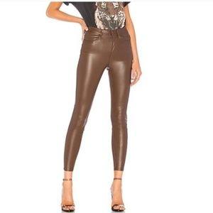 Free People Long & Lean Vegan Leather Skinny Pants
